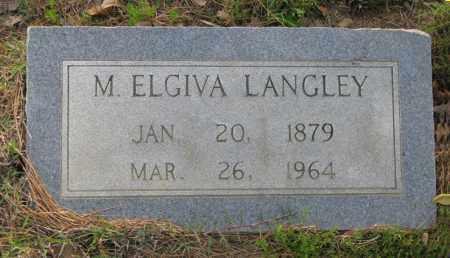 LANGLEY, MARY C. ELGIVA - White County, Arkansas | MARY C. ELGIVA LANGLEY - Arkansas Gravestone Photos