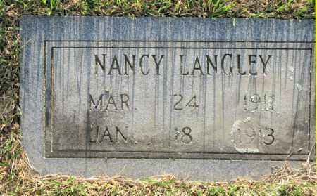 LANGLEY, NANCY - White County, Arkansas | NANCY LANGLEY - Arkansas Gravestone Photos