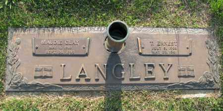 CLAY LANGLEY, MAUDIE - White County, Arkansas | MAUDIE CLAY LANGLEY - Arkansas Gravestone Photos
