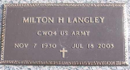 LANGLEY (VETERAN), MILTON H - White County, Arkansas | MILTON H LANGLEY (VETERAN) - Arkansas Gravestone Photos