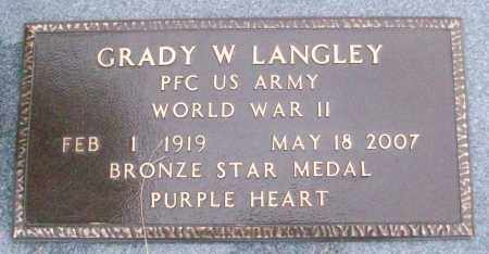 LANGLEY (VETERAN WWII), GRADY W - White County, Arkansas   GRADY W LANGLEY (VETERAN WWII) - Arkansas Gravestone Photos