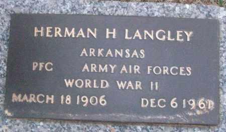 LANGLEY (VETERAN WWII), HERMAN H - White County, Arkansas | HERMAN H LANGLEY (VETERAN WWII) - Arkansas Gravestone Photos