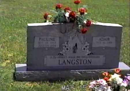 LANGSTON, PAULINE - White County, Arkansas | PAULINE LANGSTON - Arkansas Gravestone Photos
