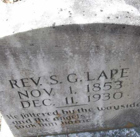 LAPE REV, S.G. - White County, Arkansas   S.G. LAPE REV - Arkansas Gravestone Photos