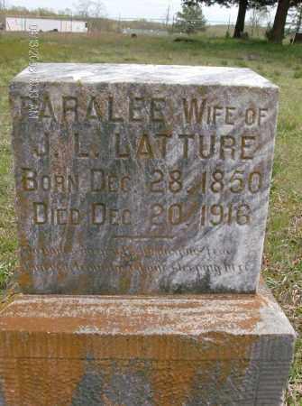 LATTURE, PARALEE - White County, Arkansas | PARALEE LATTURE - Arkansas Gravestone Photos