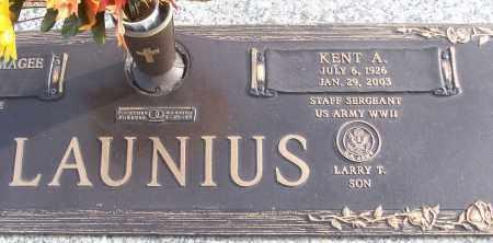 LAUNIUS (VETERAN WWII), KENT A - White County, Arkansas | KENT A LAUNIUS (VETERAN WWII) - Arkansas Gravestone Photos