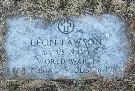 LAWSON (VETERAN WWII), LEON - White County, Arkansas | LEON LAWSON (VETERAN WWII) - Arkansas Gravestone Photos