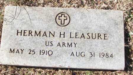 LEASURE (VETERAN), HERMAN H - White County, Arkansas   HERMAN H LEASURE (VETERAN) - Arkansas Gravestone Photos
