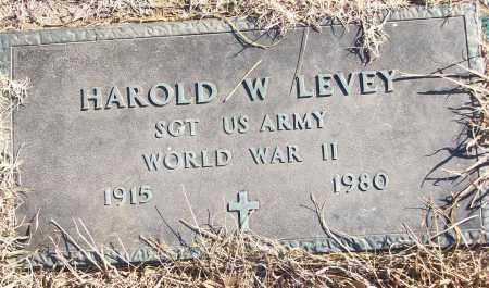 LEVEY (VETERAN WWII), HAROLD W - White County, Arkansas | HAROLD W LEVEY (VETERAN WWII) - Arkansas Gravestone Photos