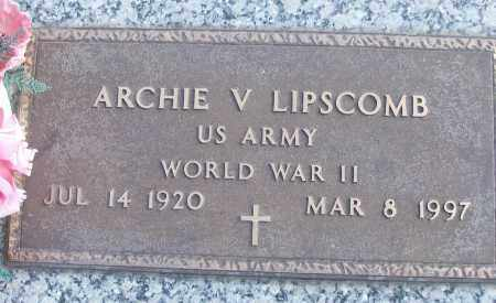 LIPSCOMB (VETERAN WWII), ARCHIE V - White County, Arkansas | ARCHIE V LIPSCOMB (VETERAN WWII) - Arkansas Gravestone Photos