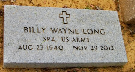 LONG (VETERAN), BILLY WAYNE - White County, Arkansas | BILLY WAYNE LONG (VETERAN) - Arkansas Gravestone Photos