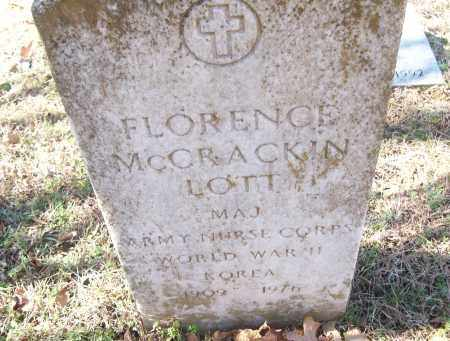 MCCRACKIN LOTT  (VETERAN 2 WAR, FLORENCE - White County, Arkansas | FLORENCE MCCRACKIN LOTT  (VETERAN 2 WAR - Arkansas Gravestone Photos