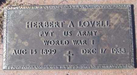 LOVELL (VETERAN WWI), HERBERT A - White County, Arkansas | HERBERT A LOVELL (VETERAN WWI) - Arkansas Gravestone Photos