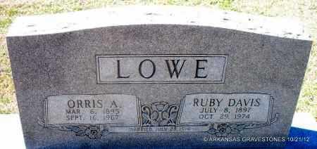 DAVIS LOWE, RUBY - White County, Arkansas   RUBY DAVIS LOWE - Arkansas Gravestone Photos