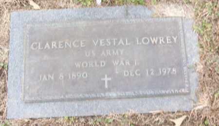 LOWREY (VETERAN WWI), CLARENCE VESTAL - White County, Arkansas   CLARENCE VESTAL LOWREY (VETERAN WWI) - Arkansas Gravestone Photos