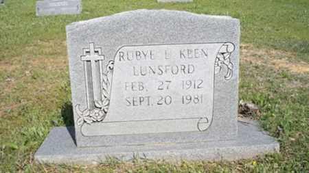 BURGESS LUNSFORD, RUBYE L - White County, Arkansas | RUBYE L BURGESS LUNSFORD - Arkansas Gravestone Photos