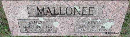 MALLONEE, ERNEST - White County, Arkansas | ERNEST MALLONEE - Arkansas Gravestone Photos