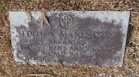 MANESIOTIS (VETERAN WWII), EDITH V - White County, Arkansas | EDITH V MANESIOTIS (VETERAN WWII) - Arkansas Gravestone Photos