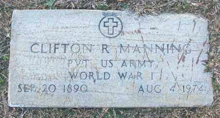 MANNING (VETERAN WWI), CLIFTON R - White County, Arkansas | CLIFTON R MANNING (VETERAN WWI) - Arkansas Gravestone Photos