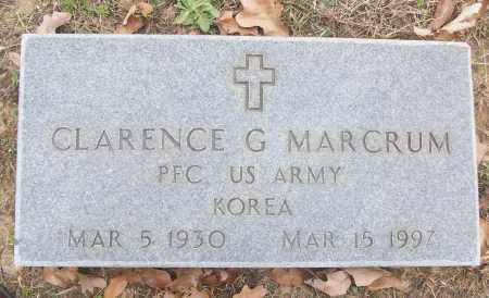 MARCRUM (VETERAN KOR), CLARENCE G - White County, Arkansas | CLARENCE G MARCRUM (VETERAN KOR) - Arkansas Gravestone Photos