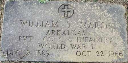 MARSH (VETERAN WWI), WILLIAM T - White County, Arkansas   WILLIAM T MARSH (VETERAN WWI) - Arkansas Gravestone Photos