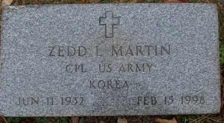 MARTIN (VETERAN KOR), ZEDD L - White County, Arkansas | ZEDD L MARTIN (VETERAN KOR) - Arkansas Gravestone Photos