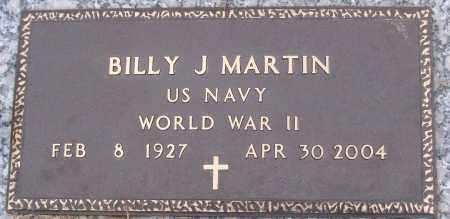 MARTIN (VETERAN WWII), BILLY J - White County, Arkansas   BILLY J MARTIN (VETERAN WWII) - Arkansas Gravestone Photos