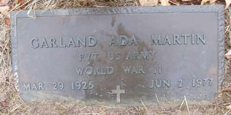 MARTIN (VETERAN WWII), GARLAND ADA - White County, Arkansas   GARLAND ADA MARTIN (VETERAN WWII) - Arkansas Gravestone Photos