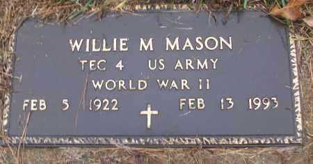 MASON (VETERAN WWII), WILLIE M - White County, Arkansas | WILLIE M MASON (VETERAN WWII) - Arkansas Gravestone Photos