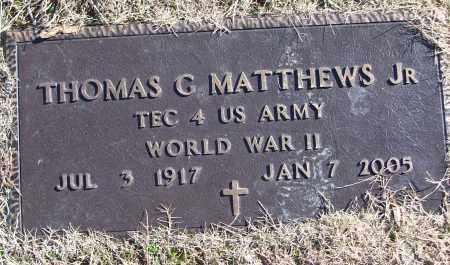 MATTHEWS, JR (VETERAN WWII), THOMAS G - White County, Arkansas | THOMAS G MATTHEWS, JR (VETERAN WWII) - Arkansas Gravestone Photos