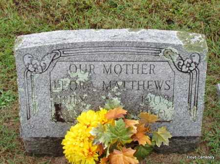 MATTHEWS, LEORA - White County, Arkansas | LEORA MATTHEWS - Arkansas Gravestone Photos