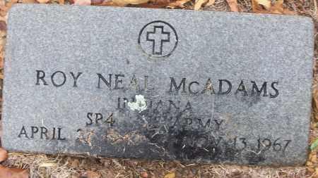 MCADAMS (VETERAN), ROY NEAL - White County, Arkansas | ROY NEAL MCADAMS (VETERAN) - Arkansas Gravestone Photos