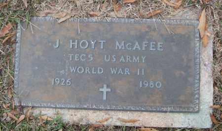 MCAFEE (VETERAN WWII), J HOYT - White County, Arkansas | J HOYT MCAFEE (VETERAN WWII) - Arkansas Gravestone Photos