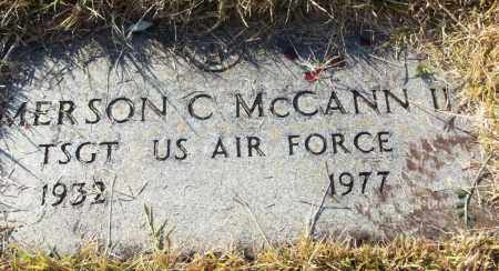 MCCANN II (VETERAN), EMERSON C - White County, Arkansas | EMERSON C MCCANN II (VETERAN) - Arkansas Gravestone Photos