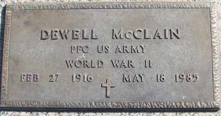 MCCLAIN (VETERAN WWII), DEWELL - White County, Arkansas | DEWELL MCCLAIN (VETERAN WWII) - Arkansas Gravestone Photos