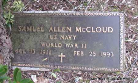 MCCLOUD (VETERAN WWII), SAMUEL ALLEN - White County, Arkansas | SAMUEL ALLEN MCCLOUD (VETERAN WWII) - Arkansas Gravestone Photos