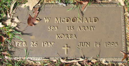 MCDONALD (VETERAN KOR), D W - White County, Arkansas   D W MCDONALD (VETERAN KOR) - Arkansas Gravestone Photos