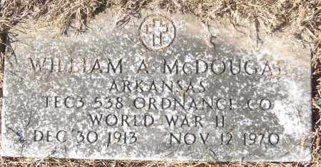 MCDOUGAL (VETERAN WWII), WILLIAM A - White County, Arkansas   WILLIAM A MCDOUGAL (VETERAN WWII) - Arkansas Gravestone Photos