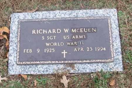 MCEUEN  (VETERAN WWII), RICHARD W - White County, Arkansas   RICHARD W MCEUEN  (VETERAN WWII) - Arkansas Gravestone Photos