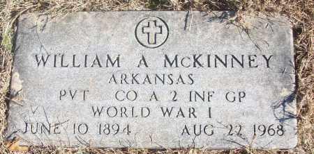 MCKINNEY  (VETERAN WWI), WILLIAM A. - White County, Arkansas   WILLIAM A. MCKINNEY  (VETERAN WWI) - Arkansas Gravestone Photos