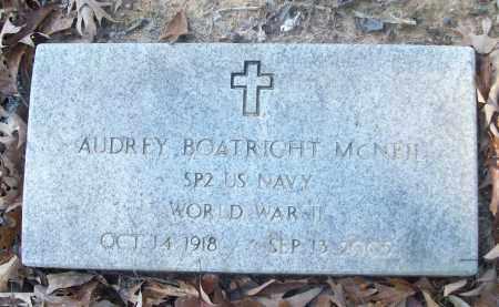 MCNEIL (VETERAN WWII), AUDREY - White County, Arkansas   AUDREY MCNEIL (VETERAN WWII) - Arkansas Gravestone Photos