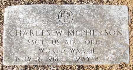 MCPHERSON (VETERAN WWII), CHARLES W - White County, Arkansas | CHARLES W MCPHERSON (VETERAN WWII) - Arkansas Gravestone Photos