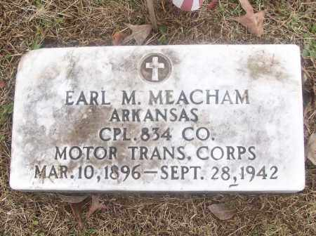 MEACHAM  (VETERAN), EARL M - White County, Arkansas | EARL M MEACHAM  (VETERAN) - Arkansas Gravestone Photos