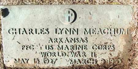 MEACHUM (VETERAN WWII), CHARLES LYNN - White County, Arkansas | CHARLES LYNN MEACHUM (VETERAN WWII) - Arkansas Gravestone Photos