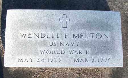 MELTON (VETERAN WWII), WENDELL E - White County, Arkansas | WENDELL E MELTON (VETERAN WWII) - Arkansas Gravestone Photos