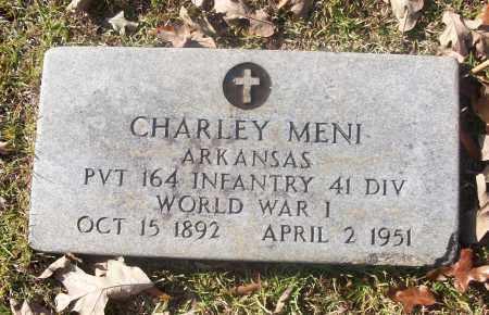 MENI  (VETERAN WWI), CHARLEY - White County, Arkansas | CHARLEY MENI  (VETERAN WWI) - Arkansas Gravestone Photos