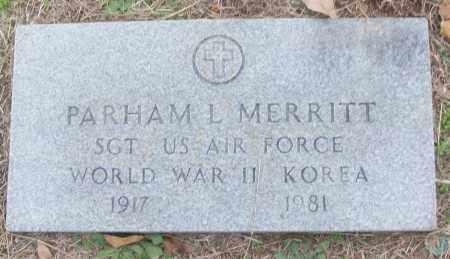 MERRITT (VETERAN 2 WARS), PARHAM L - White County, Arkansas   PARHAM L MERRITT (VETERAN 2 WARS) - Arkansas Gravestone Photos