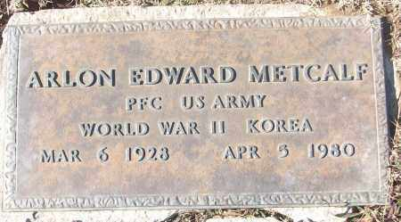 METCALF (VETERAN 2 WARS), ARLON EDWARD - White County, Arkansas | ARLON EDWARD METCALF (VETERAN 2 WARS) - Arkansas Gravestone Photos
