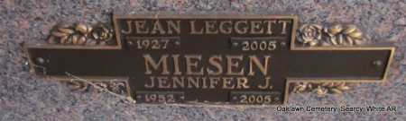 MIESEN, JENNIFER J. - White County, Arkansas | JENNIFER J. MIESEN - Arkansas Gravestone Photos