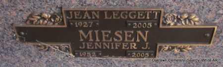 MIESEN, JENNIFER J. - White County, Arkansas | JENNIFER J. MIESEN - Arkansas Gravestone Photos